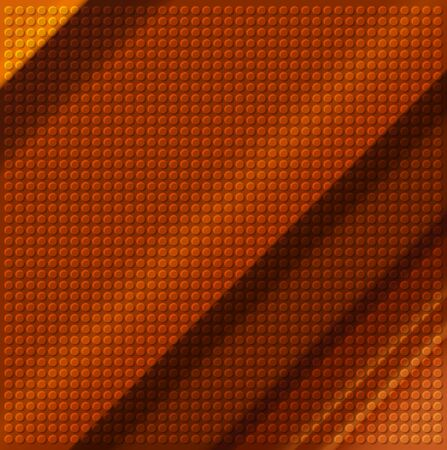 embossing: embossing metallic circle background in brown tone, illustration vector   Stock Photo