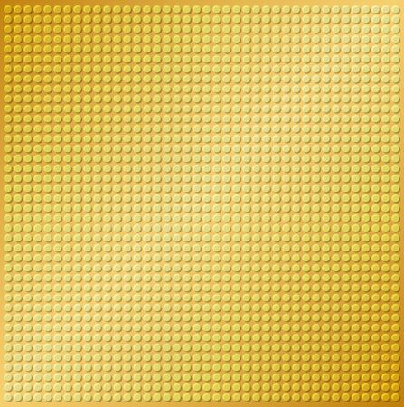 embossing: embossing metallic circle background in yellow gold tone, illustration vector