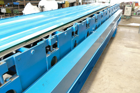 ironwork: the extrusion machine for producing metal sheet in the factory