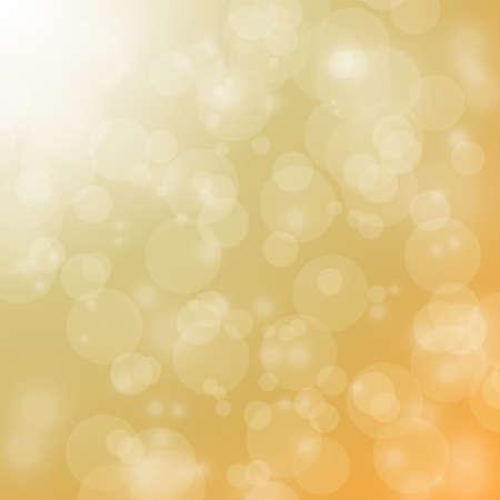 christmas backdrop: light and bokeh on orange background for christmas backdrop Illustration