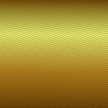 embossing: surface of embossing zigzag line pattern on yellow brown gold metallic background Illustration
