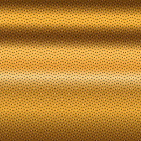 gold brown: surface of embossing zigzag line pattern on gold brown metallic background Illustration
