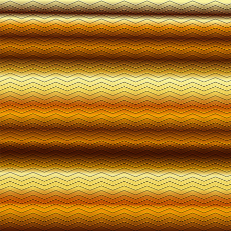 metallic background: surface of embossing zigzag line pattern on yellow gold brown metallic background