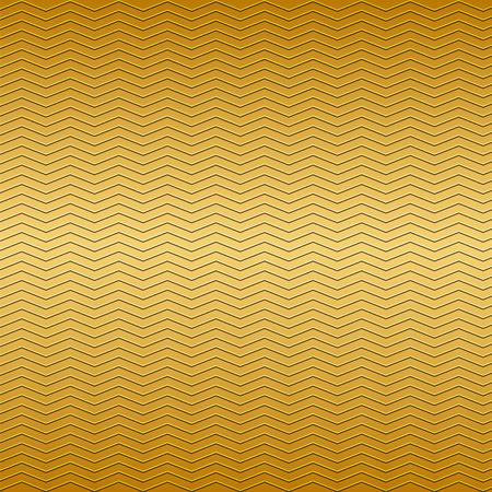 metallic: oppervlak van goud embossing zigzag lijn patroon op metalen achtergrond Stock Illustratie