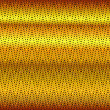gold brown: surface of embossing zigzag line pattern on yellow gold brown metallic background
