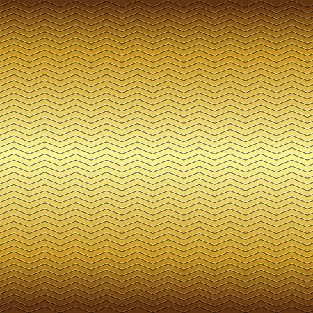 repujado: superficie del patr�n de l�neas en zigzag de estampado sobre fondo amarillo met�lico de color marr�n
