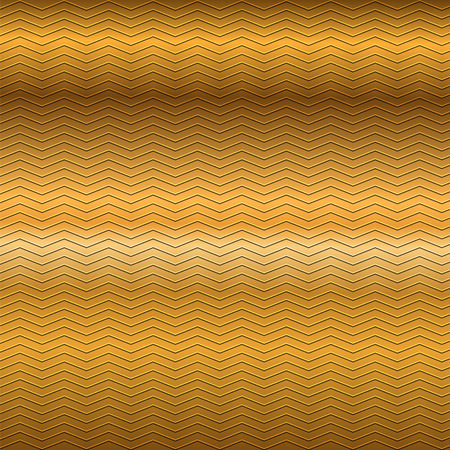 embossing: surface of embossing zigzag line pattern on gold brown metallic background Illustration