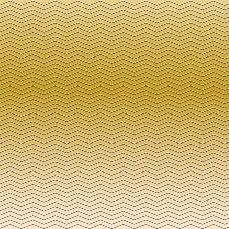 embossing: surface of embossing zigzag line pattern on yellow gold metallic background