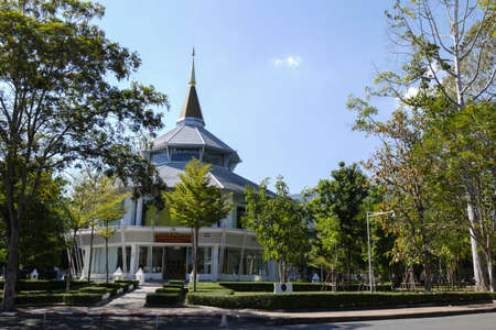 glorify: Chiang Mai, Thailand - December 23, 2015:  The building for glorifying the king in Chiang Mai university in Chiang Mai, Thailand on December 23, 2015.