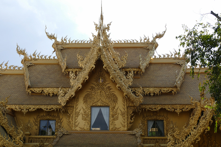 temple: art and golden sculpture design of Thailand temple Stock Photo