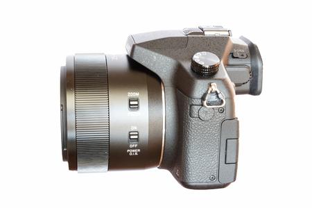 digicam: Chiang Mai, Thailand - May 14, 2015: Panasonic Lumix DMC- FZ1000 bridge digital camera isolated on white background