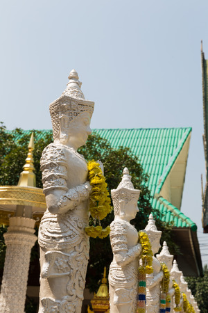 asian art: the art design of angel sculpture statue in asian temple