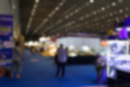 blur background of people shopping in fair tradeshow which retailer selling various product Reklamní fotografie - 53690258