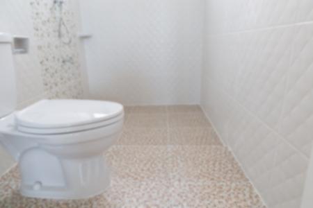 flush: lavatory flush toilet bathroom (blurry defocused for interior background) Stock Photo