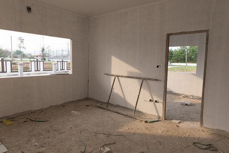 during: structure of room in the house during construction