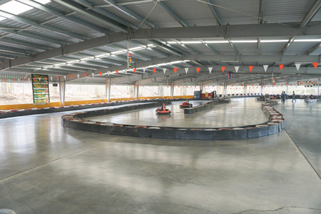 carting: Chiang Mai, Thailand - March 26 2016: People drive indoor drifter go-cart at X centre which is the one-stop for all adrenaline junkies with a wide range of thrilling activites in Chiang Mai, Thailand on March 26, 2016. Editorial