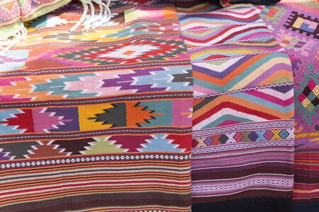 lanna: colorful traditional handmade Thailand lanna fabric textile