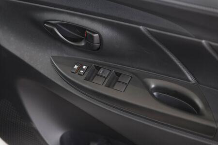 automobile door: design of new car automobile door handle, selective focus