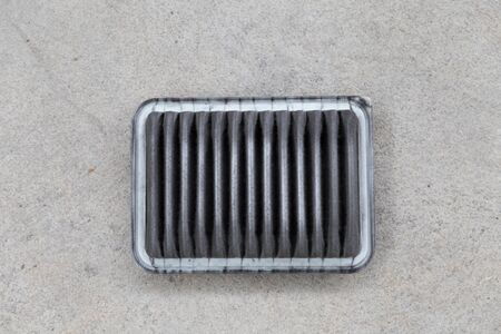 clogged: dirty clogged air filter of car automobile