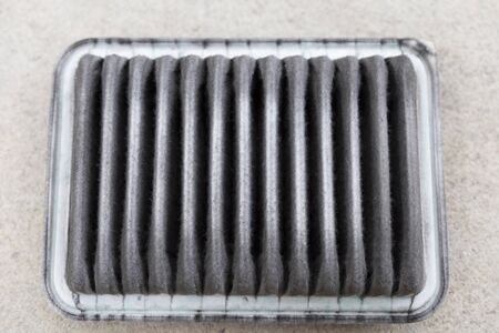 dirty car: dirty clogged air filter of car automobile
