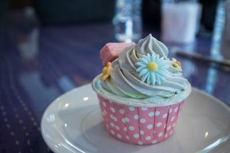 feast: cupcake snack dessert on table - feast, birthday concept