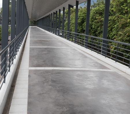elevated walkway: perspective of elevated pedestrian walkway sky walk