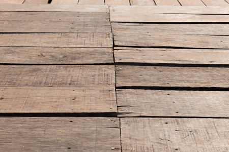 old wood floor: Perspective of old wood floor  for abstract background Stock Photo