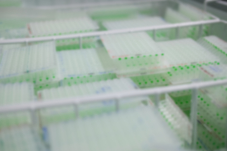 plant DNA sample in scientific biotechnology biiology lab laboratory. blur background
