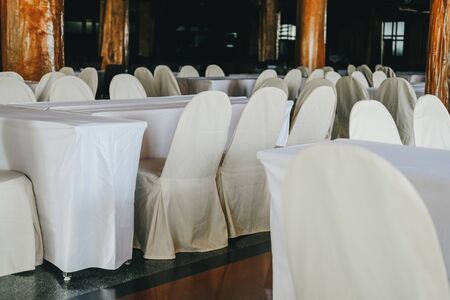 dining table chair arrangement for banquet catering service