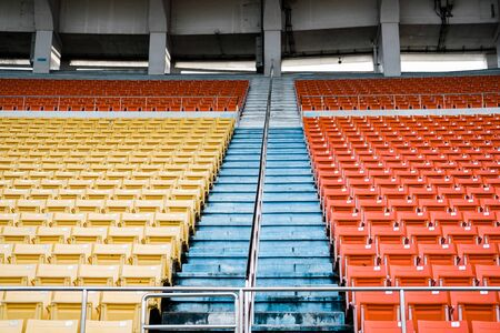 row of chair seat in sports stadium arena