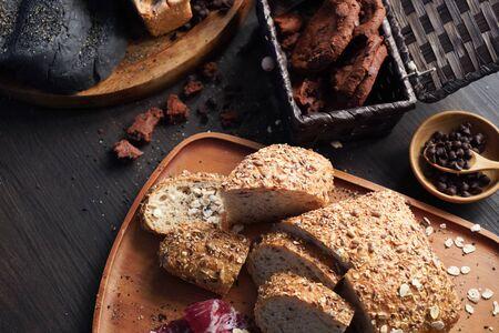 brood koekjes banketbakkerij. gebakken zelfgemaakte gerechten Stockfoto