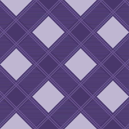 Seamless tartan plaid pattern in purple tone. 向量圖像