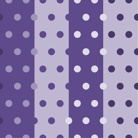 Seamless polka dots pattern in purple tone. Vector illustration. 向量圖像