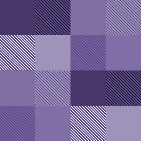 Seamless tartan plaid pattern in purple tone. Stock Illustratie