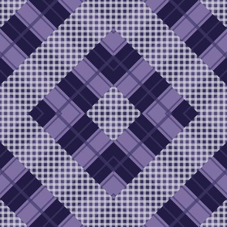 Seamless tartan plaid pattern in purple tone. Vector illustration. 向量圖像