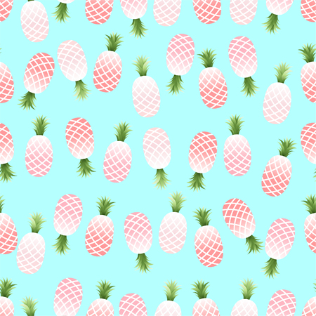 Vector Seamless Pattern with Pineapples,summer concept.