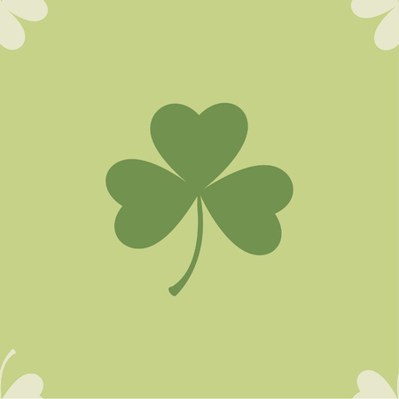 Saint Patrick's Day seamless for background. Shamrock clover leaf Vector illustration.