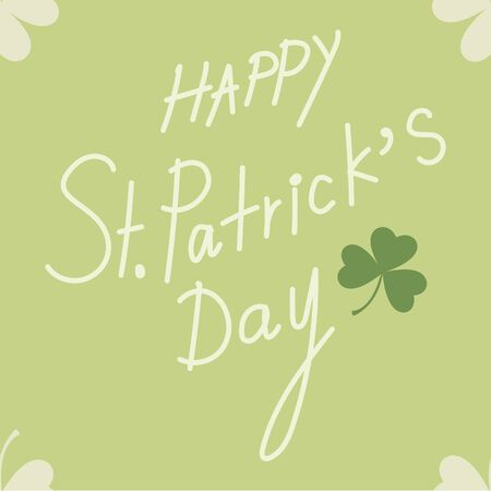 Saint Patrick's Day seamless for background with text and clover leaf Vector illustration.