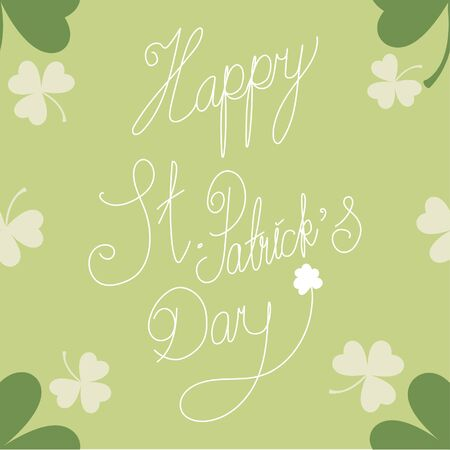 Saint Patrick's Day seamless for background with text and clover leaves Vector illustration.