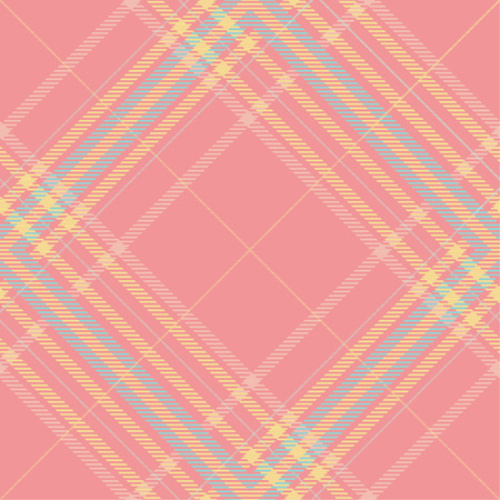 Seamless tartan plaid pattern in pink and summer tone.
