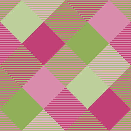Seamless tartan plaid pattern in green and pink tone. 版權商用圖片 - 105658711