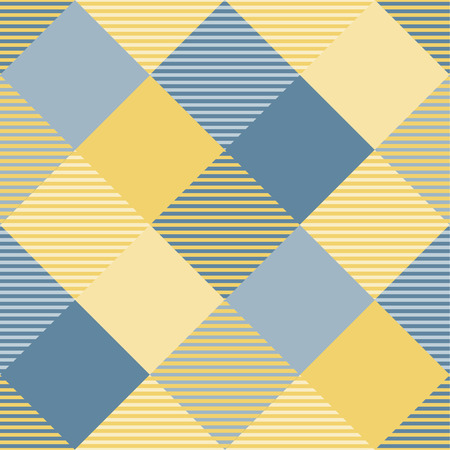 Tartan pattern,Scottish traditional fabric seamless, yellow and blue tone. 版權商用圖片 - 105658713