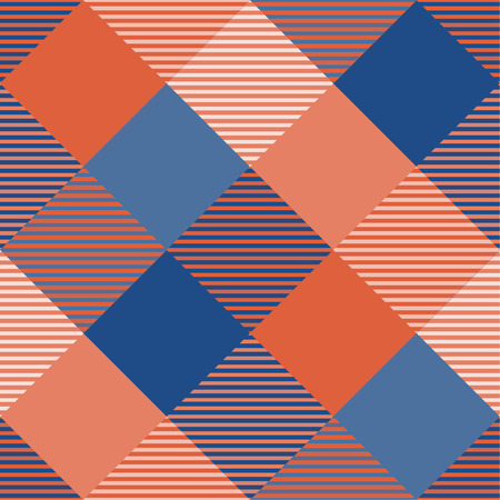 Tartan pattern,Scottish traditional fabric, orange tone background, 向量圖像