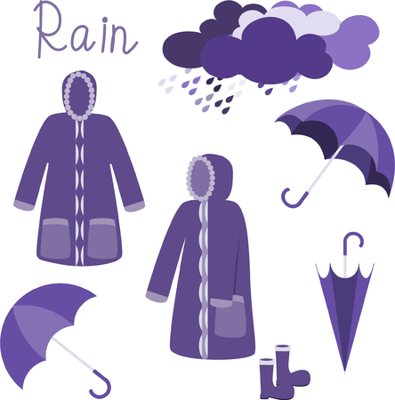 Raincoat vector on white background,rainy season concept. 版權商用圖片 - 105658715