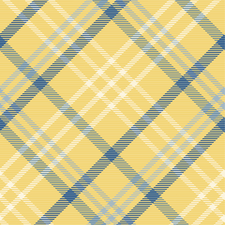 Tartan pattern,Scottish traditional fabric seamless, yellow and blue tone. 向量圖像