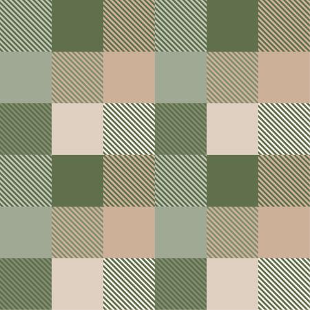 Seamless tartan plaid pattern in green tone.