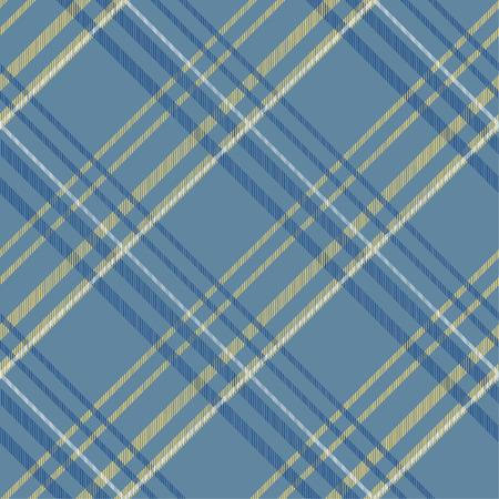 Seamless tartan plaid pattern in blue tone. 版權商用圖片 - 105658716