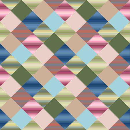 Seamless tartan plaid pattern in green and pink tone. 版權商用圖片 - 105658722