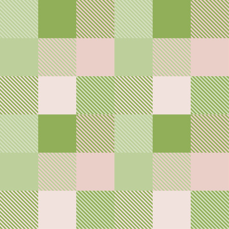 tartan plaid pattern in green and pink tone. 向量圖像