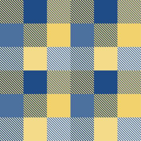Tartan pattern,Scottish traditional fabric, yellow and blue tone.